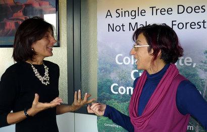 Enrica Porcari (left) and Antonella Pastore (right): knowledge sharing at heart.