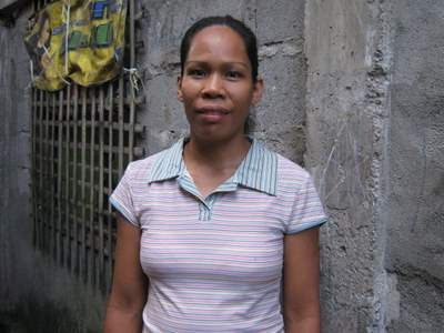 Evelyn Dionela in the Philippines