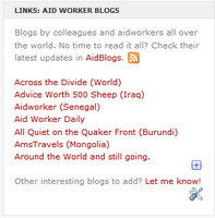 aidworker blogs