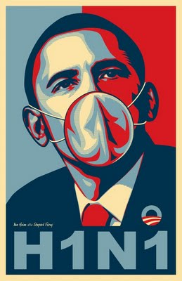 Obama Swine Flu H1N1 cartoon