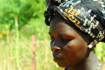 Helene Nana on her vegetable farm in Burkina Faso