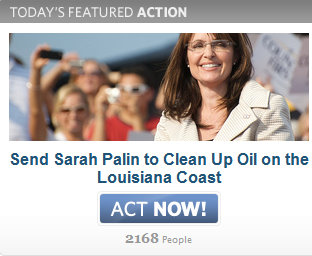 Send Sarah Palin to Clean up Gulf Oil