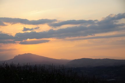 sunset in Marche Italy