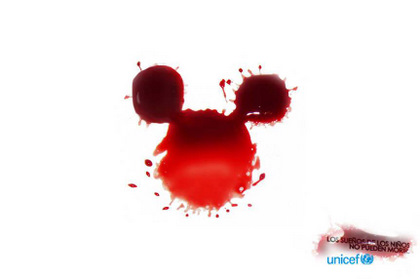 UNICEF Mickey Mouse advertisement Los suenos de los ninos no pueden morir - Children's dreams can not die