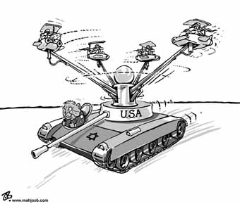 US tank cartoon
