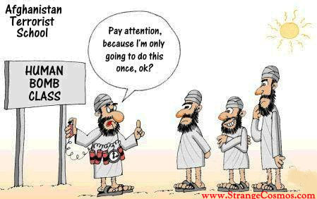Afghanistan suicide bombers cartoon
