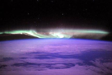 aurora australis taken from space