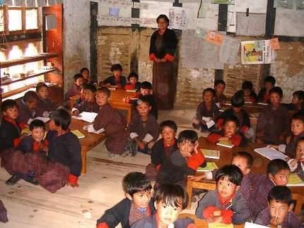 class room in Bhutan