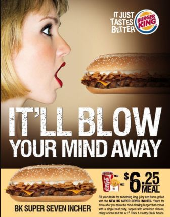 Singapore Burger King ad sexually inspired