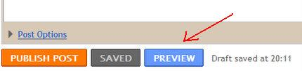blogger preview button