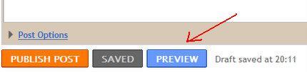 blogger preview button