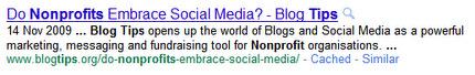 Blogtips on Google