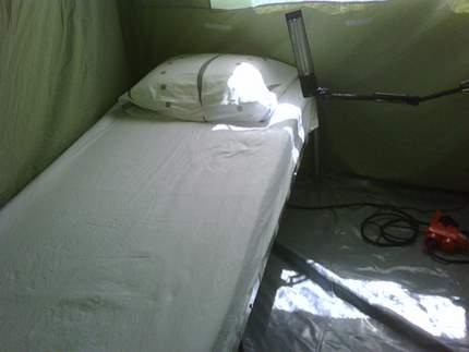 Haiti Camp Charly bed