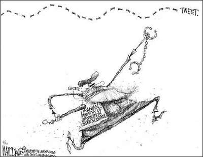 cartoon twitter Iran elections