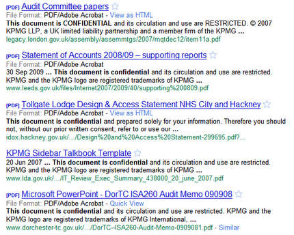 UK confidential documents on Google