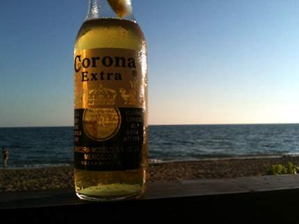 Corona by sunset