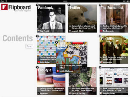Flipboard - Rearranging the front tiles