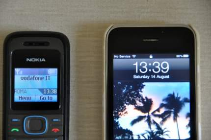 Nokia and iPhone reception comparison