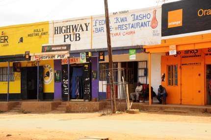 Kenya road pub
