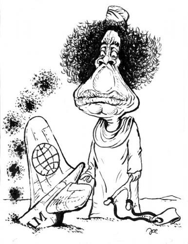 Khadaffi cartoon
