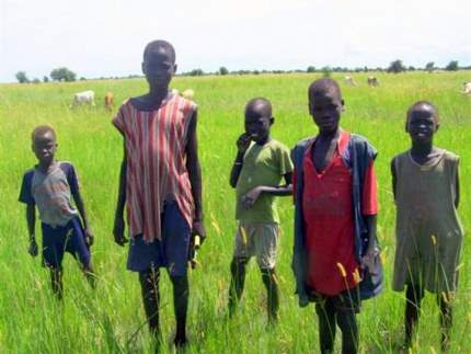 Lou Nuer boys and their cattle