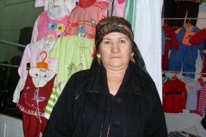 Mirzaeva in her shop