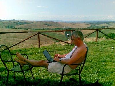 my favorite blogging position