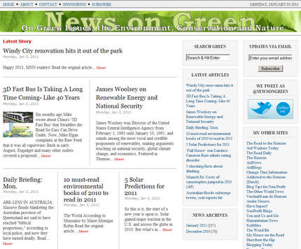 News On Green screenshot