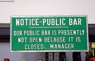 the public bar is closed