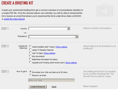 reliefweb briefing kit