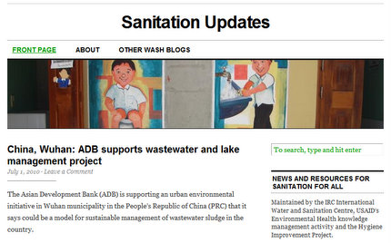 Sanitation Updates - One of the IRC blogs