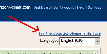 how to switch to the new Blogger user interface