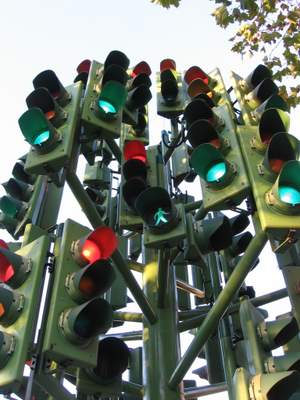 funny traffic lights tree