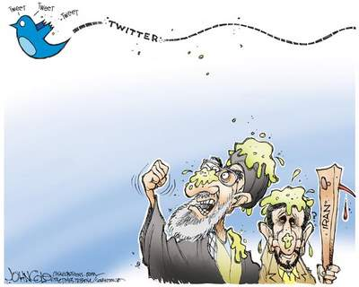 cartoon twitter Iran elections