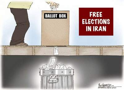 Iran Election Cartoon