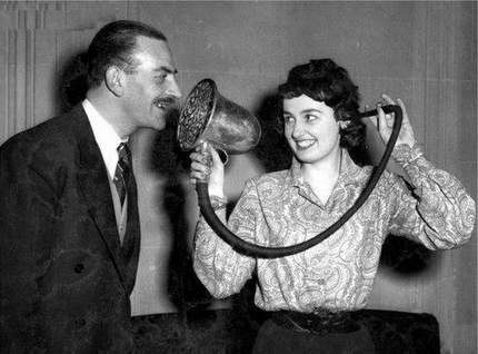 vintage hearing aid
