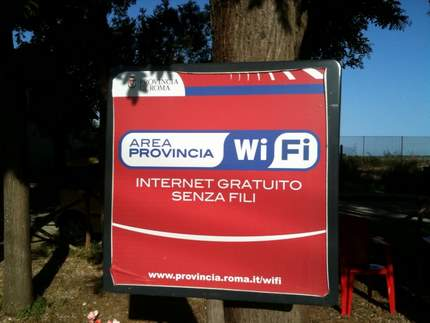 Free WiFi access in Rome